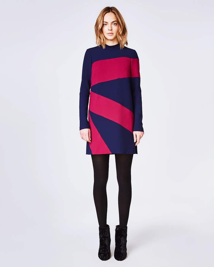Nicole Miller Colorblocked Dress
