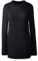 Classic Women's Ribbed Tunic Sweater-Black