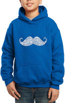 LOS ANGELES POP ART Los Angeles Pop Art Different Ways To Style A Moustache Hoodie-Big Kid Boys