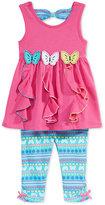 Nannette 2-Pc. Butterflies Tunic & Capri Leggings Set, Baby Girls (0-24 months)