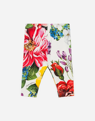 Dolce & Gabbana Interlock Leggings With Floral Print