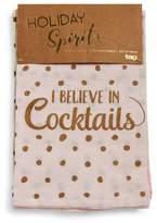 Tag Trade Set of Four Holiday Spirits Cotton Flour Sack Kitchen Towels
