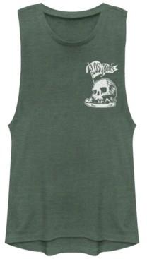 Disney Juniors' Tinkerbell Skull Rocket Flag Festival Muscle Tank Top