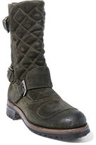 Ralph Lauren Grover Washed-Suede Boot