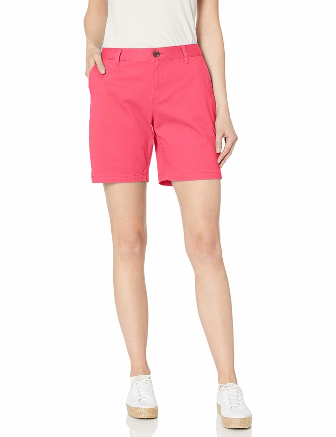 "Amazon Essentials 7"" Inseam Solid Chino Short Casual"