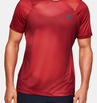 Under Armour Men's UA RUSH HeatGear Fitted Short Sleeve Printed