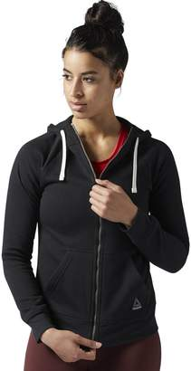Reebok Cotton Mix Zip-Up Hoodie with Pockets
