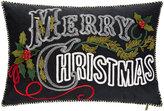 Mackenzie Childs Merry Christmas Lumbar Cushion