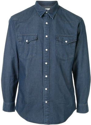 Kent & Curwen Denim Long-Sleeved Shirt