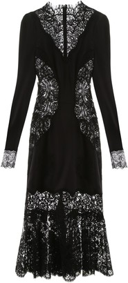 Dolce & Gabbana Sheer Lace Long Sleeve Dress