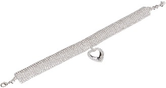 Alessandra Rich Crystal Heart Pendant Necklace