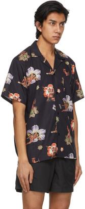 Bather Black Printed Camp Short Sleeve Shirt