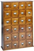 Leslie Dame CD-456W Solid Oak Library File Media Cabinet