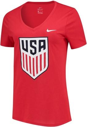 Nike Women's Red US National Team Legend V-Neck T-Shirt