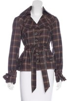 Nanette Lepore Wool Plaid Jacket