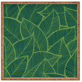 DENY Designs Lime Leaves Large Square Tray