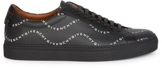 Givenchy Urban Street Wavy Logo Print Leather Sneakers