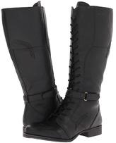 Naturalizer Jakes Wide Shaft Boot (Black Wide Shaft Smooth) - Footwear