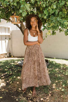 Urban Outfitters Clove Printed Maxi Skirt