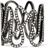 Repossi White Noise 18-karat Black Gold-washed Diamond Ring - 54