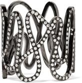 Repossi White Noise 18-karat Black Gold-washed Diamond Ring - 54