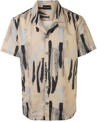 Emporio Armani Abstract Print Shirt
