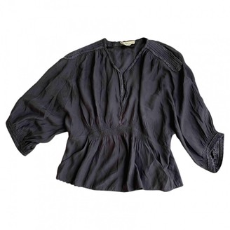 Etoile Isabel Marant Anthracite Silk Top for Women