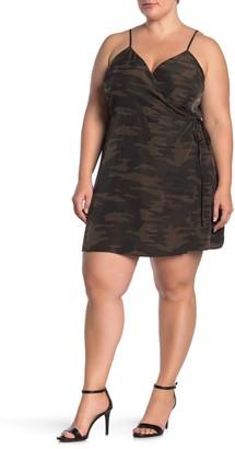 Sanctuary Wrap Patterned Mini Dress (Plus Size)