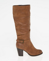 Le Château Leather-Like Almond Toe Knee-High Boot