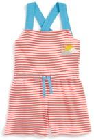 Toddler Girl's Mini Boden Applique Romper
