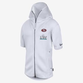 Nike Men's Short-Sleeve Hoodie Sideline Showout Super Bowl LIV (NFL 49ers)