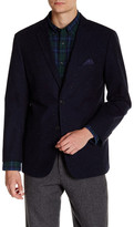 U.S. Polo Assn. Blue Nub Two Button Notch Lapel Modern Fit Suit Separates Sport Coat