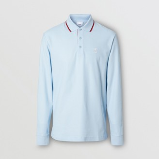 Burberry ong-seeve Monogram Motif Cotton Pique Poo Shirt