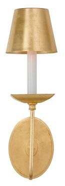 Aidan Gray Archie 1 - Light Candle Wall Light (Set of 2 Finish: Gold