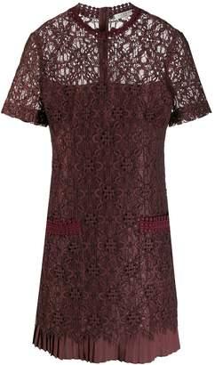 Sandro Paris lace panel short dress