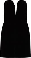 Saint Laurent Deep V-cut velvet mini dress