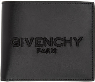 Givenchy Black Embroidered Logo Wallet