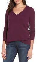 Halogen Women's V-Neck Cashmere Sweater