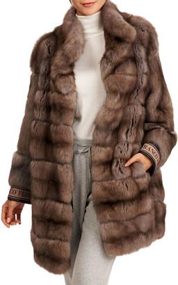 Gianfranco Ferre Horizontal Russian Sable Fur Stroller