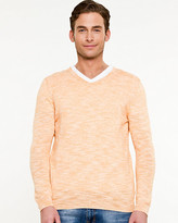 Le Château Slub Cotton V-Neck Sweater