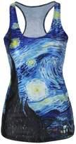 Amoluv Hot Fashion Women Adventure Time Bro Ball Printed Sleeveless T Shirt Vest Tank Tops