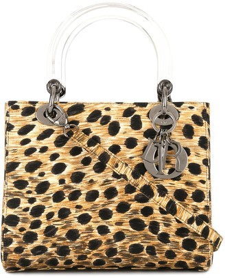 Christian Dior 1999 pre-owned Lady leopard print 2way bag