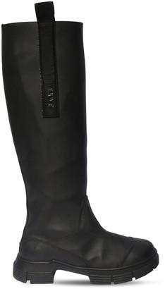 Ganni 45mm Tall Rubber Rain Boots