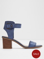 Aldo Dezi Mid Heel Sandal With Ankle Strap And Buckle Fastener