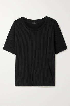 The Range Ribbed Tencel And Cotton-blend Jersey T-shirt - Black