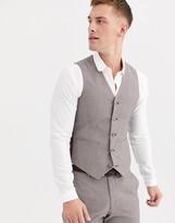 Melange Home Asos Design ASOS DESIGN wedding slim suit vest in violet gray