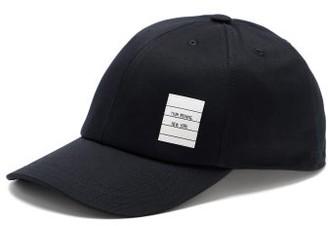 Thom Browne Logo-patch Cotton-twill Baseball Cap - Navy