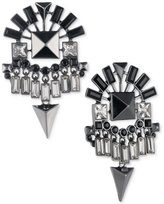 Givenchy Hematite-Tone Jet Stone Chandelier Earrings