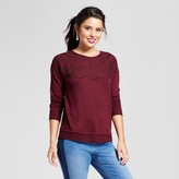 Xhilaration Women's Lace-Up Back Sweatshirt Juniors')