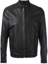 Paul Smith zip up jacket - men - Leather/Polyester - M